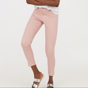 H&M pink skinny ankle jeans